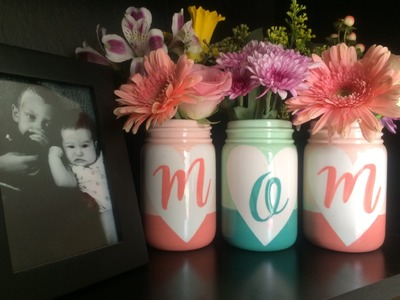 Hand Painted Mason Jars for Mother's Day | As You Wish Pottery Painting Place