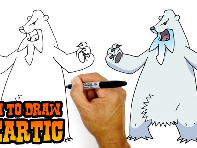 How to Draw Beartic (Pokemon)- Kids Art Lesson