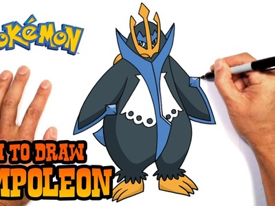 How to Draw Empoleon (Pokemon)- Easy Art Lesson
