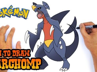 How to Draw Garchomp (Pokemon)- Easy Art Lesson