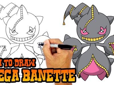 How to Draw Mega Banette (Pokemon)- Art Lesson for Kids
