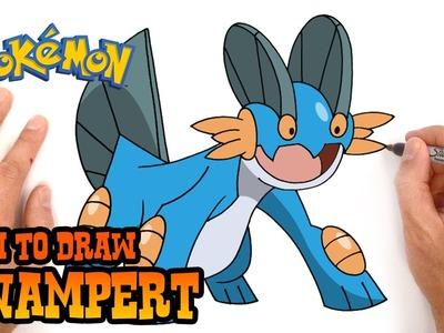 How to Draw Swampert (Pokemon)- Easy Art Lesson