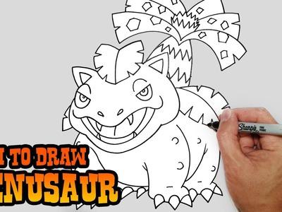 How to Draw Venusaur- Pokemon- Video Lesson