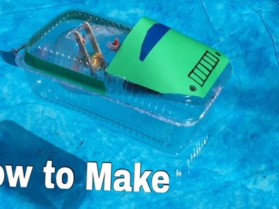 How to Make a Boat - Jet Boat (Electric. Toy) - Tutorial