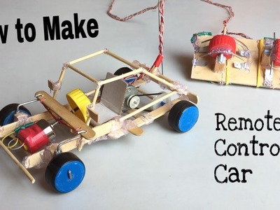 How to Make a Car - With Remote Controlled - Out of Popsicle Sticks - Tutorial