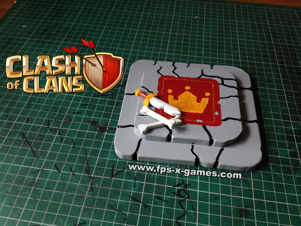 How to Make a Clash of Clans Barbarian King Altar