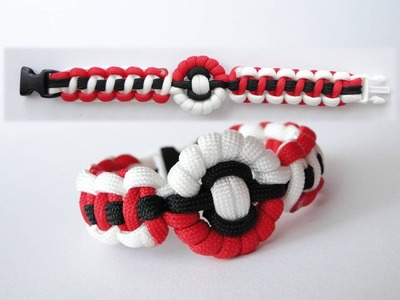 How to Make a Pokeball,Pokemon Themed Paracord Bracelet-Version 2