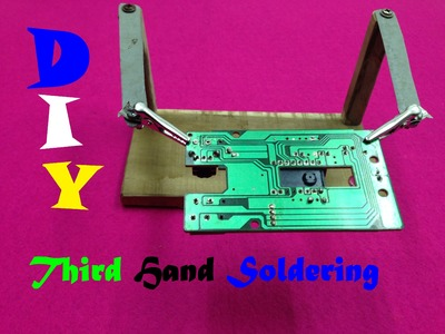 How to make a third hand welding - Third Hand Soldering Holder
