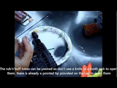 How to Paint a SciFi or Steampunk Platic Toy Gun with Rub'n'Buff Part 3 of 3