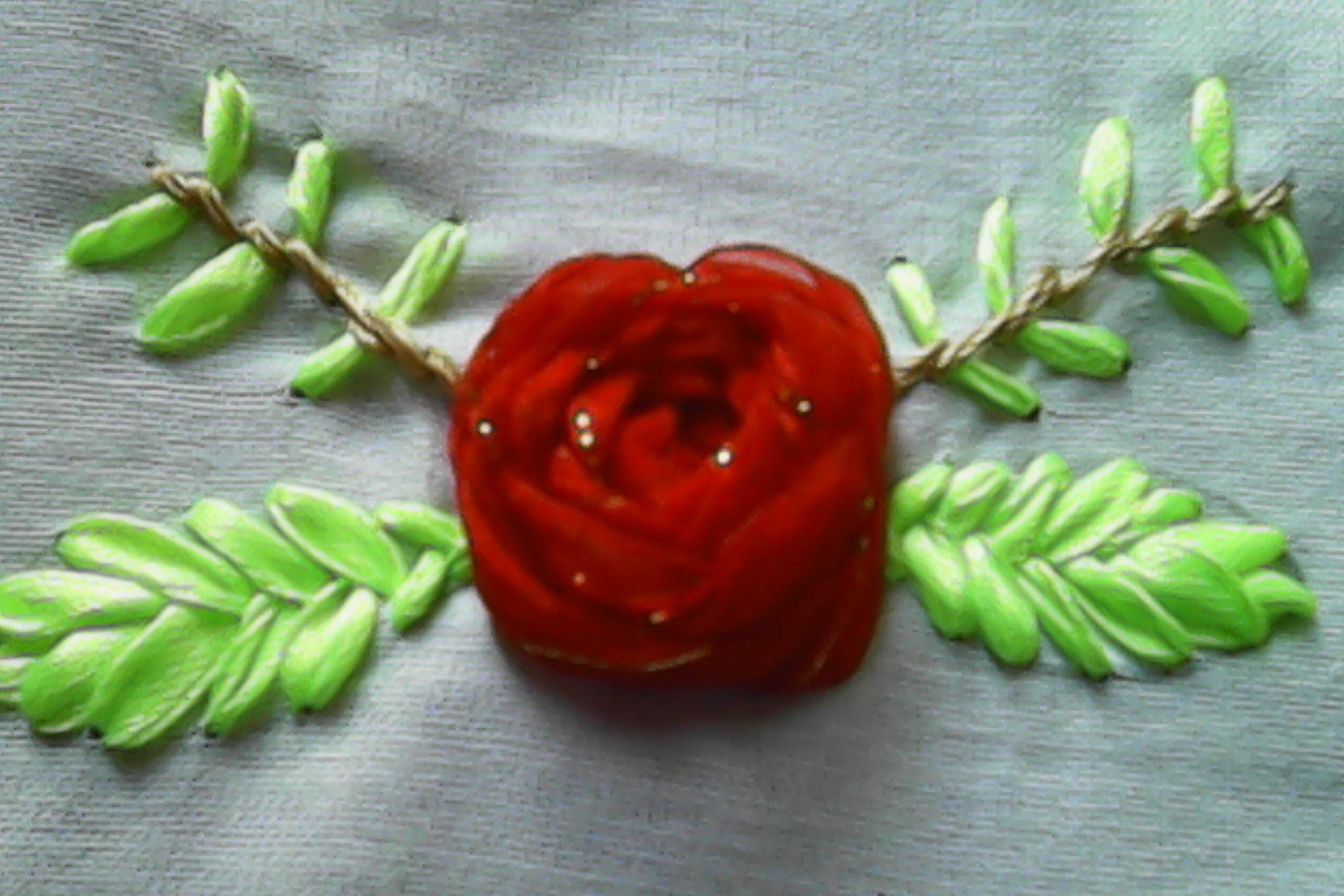 Kreasi sulam pita Cara membuat bunga mawar dari pita How to make ...