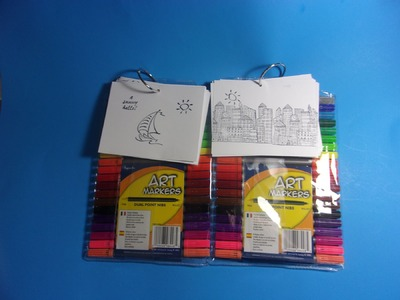 Make Your Own Travel Coloring Book & Postcards, Inexpensive and a Great Gift