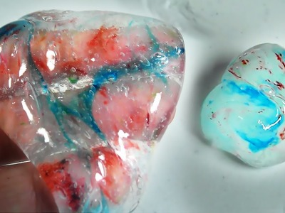 MARBLE CRYSTAL CLEAR SLIME COLORED LIQUID GLASS THINKING PUTTY NO LIQUID DETERGENT - Elieoops