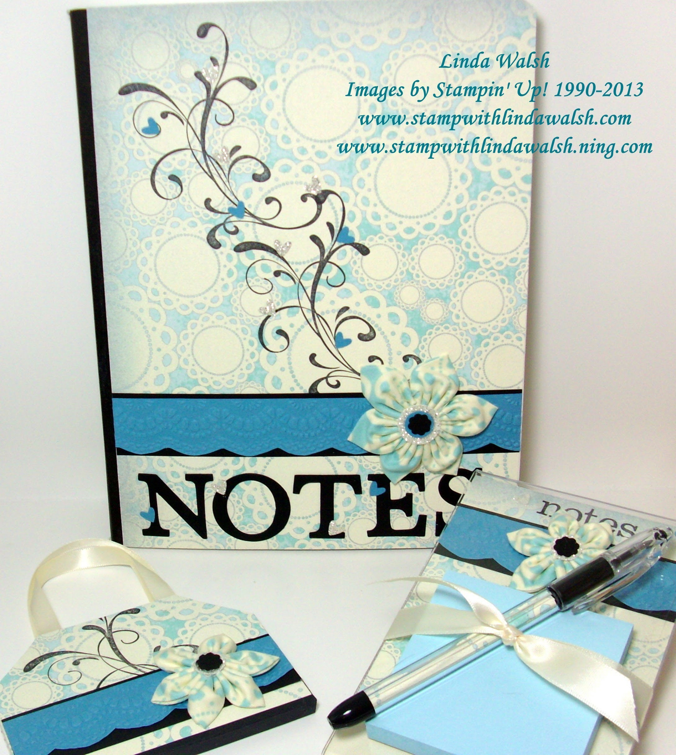 Mini Notebook Purse Tutorial to Desk Set Series - Part 2 of 3 Desk Set Series
