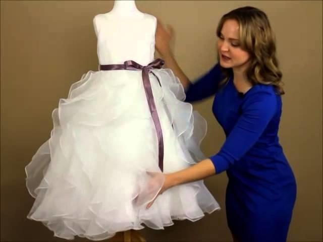 My Girl Dress.com   Dress Review: Elegant Tulle Flower Girl Dress with Satin Sash