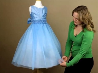 MyGirlDress.com | Dress Review: Satin Pleated Dress with Tulle Skirt
