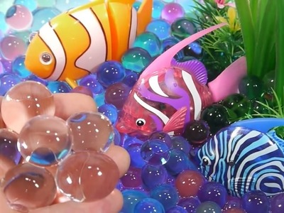 Orbeez DIY How To Make Robotic Fish Aquarium Learn Colors Slime Toy Surprise Toys | Finger Family