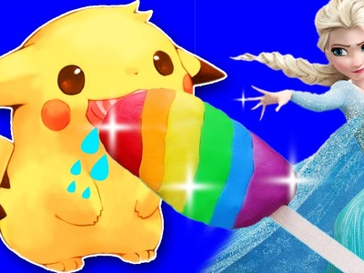 Play doh Frozen Elsa How To Make Popsicle Ice Cream Playdoh For Pikachu Pokemon Go