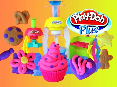 PLAY DOH PLUS Frosting Fun Bakery Sweet Shoppe Play Dough Cupcakes, Play-Doh Cookies and Treats