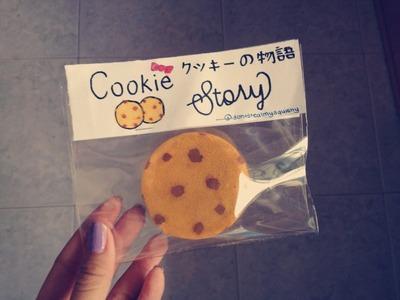 Simple Handmade cookie squishy tutorial (With packaging) (;