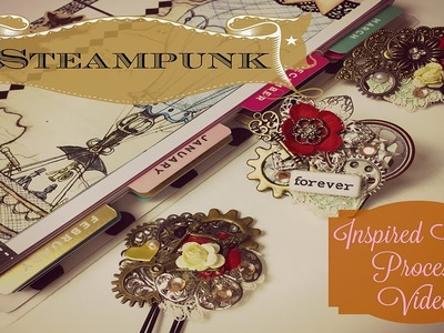 Steampunk Clips Paperclips Process Video! Embellishments for my Happy Planner