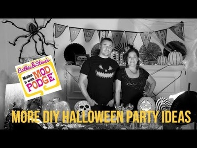 Super Easy Halloween Party Decor with Mod Podge