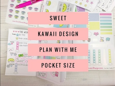 Sweet Kawaii Design - Plan With Me - Pocket Size! :)