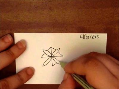 Tangle Tutorial: 4 Corners