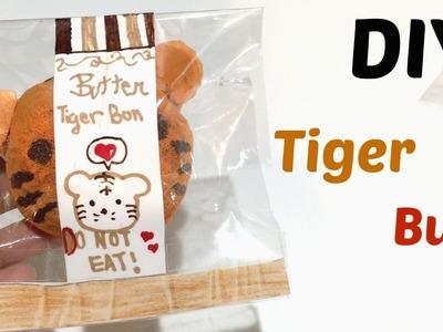 Tiger animal bun tutorial squishy