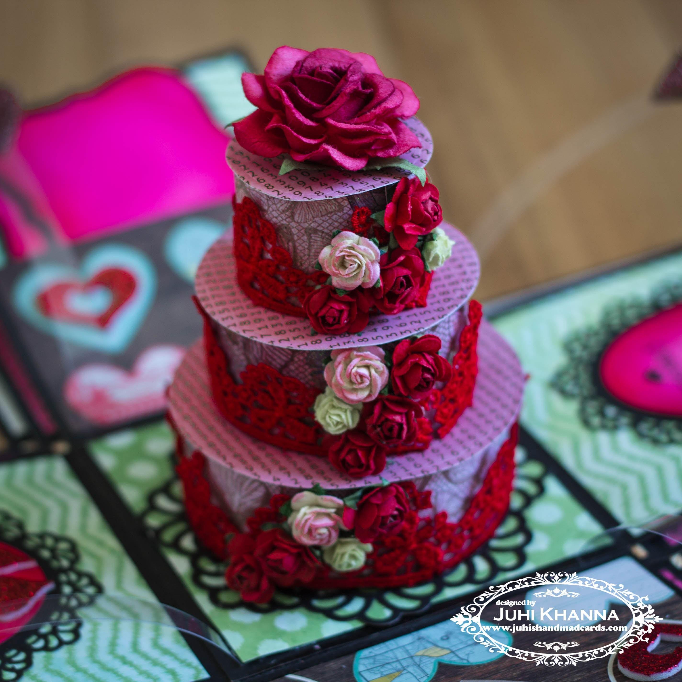 Valentine's Day.Romantic Love Exploding Box