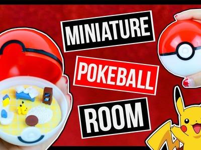 What's inside a Pokeball? Pokemon Miniature Dollhouse ♥ Mini Pikachu