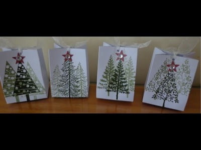 ~ A little christmas favor box.bag ~ stampin up