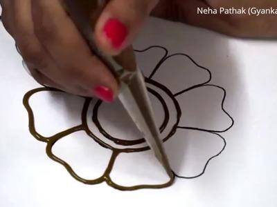 Basic Mehendi Design - 1 by Neha Pathak (GyankakshTV)