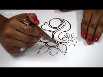 Basic Mehendi Design - 3 by Neha Pathak (GyankakshTV)