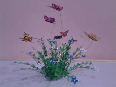 Best Out Of Waste Plastic Lovely Butterflies Showpiece