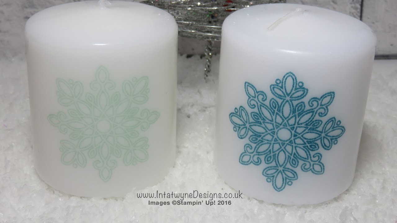 Crafty Christmas Countdown #10 - Candle Stamped with a Flurry of Wishes