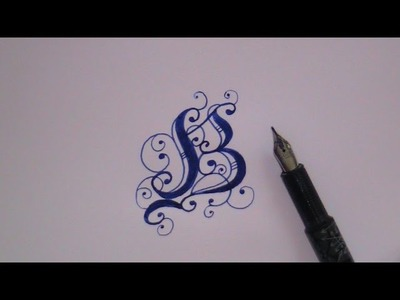 Cursive fancy letters - how to write fancy letter B - for beginners