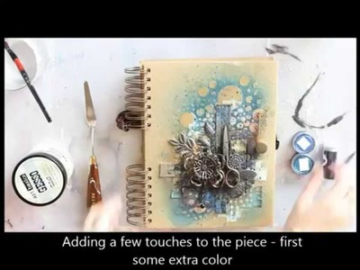 Cutting edge art journal cover by Riikka Kovasin