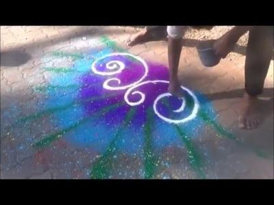 Diwali Rangoli Kolam Best Rangoli Designs - 5 Best Peacock Rangoli Design