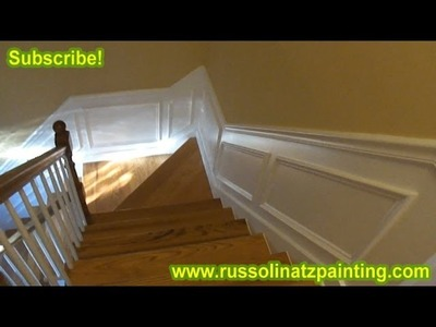 DIY How to Paint & Prepare New Crown Molding (Part 9) - How to paint a straight line