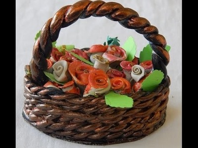 Easy home decor ideas ceramic flower basket