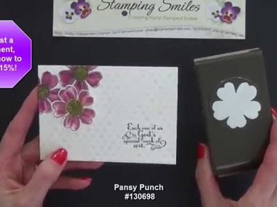 Gorgeous and Easy Stampin' Up! Flower Shop Card
