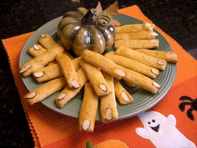 Halloween Party Food Ideas and Recipes - Spooky Breadstick Witch Fingers