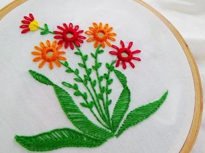 Hand Embroidery: Mirror work variation