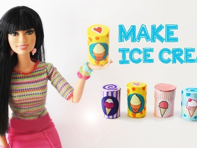 How to Make a Doll Ice Cream Tub Container   - Easy Doll Crafts - SimpleKidsCrafts