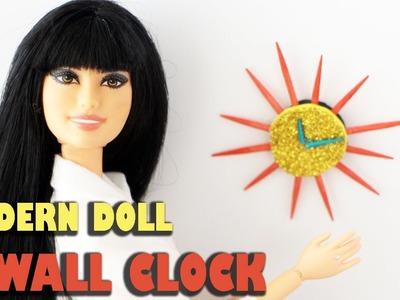How to make a modern doll wall clock - Doll Crafts - simplekidscrafts