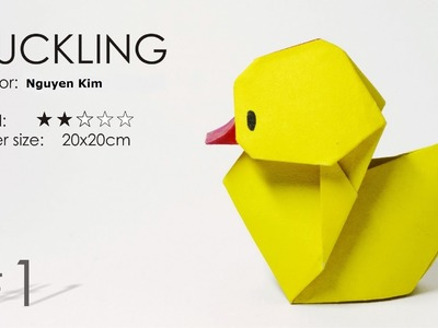 How to make an Origami Duck Baby Ver.2