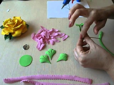 How to make Flowers Gerbera Foam Sheet. . How to make Foam Flower, DIY, Tutorial Foam