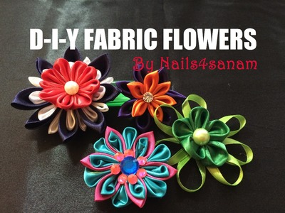 How to make flowers using ribbon or fabric - quick and easy