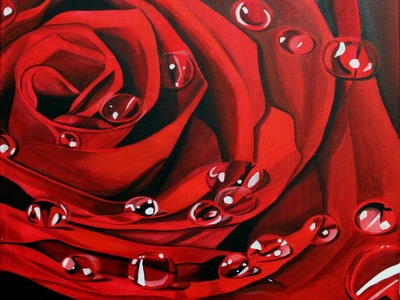 How to paint a rose using acrylic- step by step