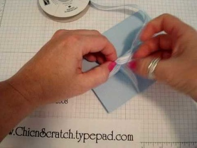 How to tie Ribbon